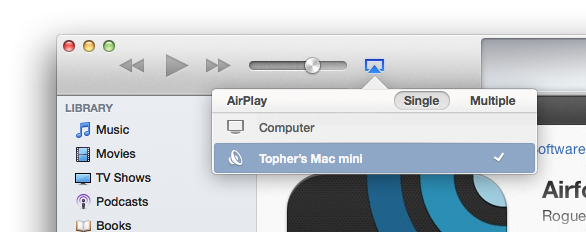 AirFoil as a device in iTunes