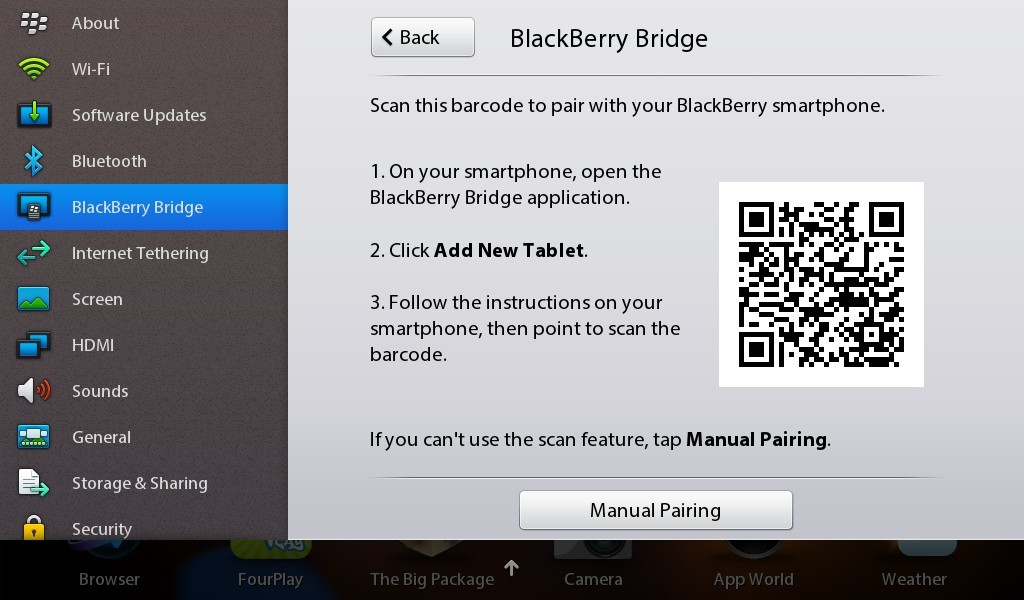Scan the barcode with your BlackBerry smartphone