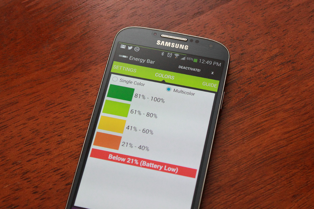 Energy Bar for Android