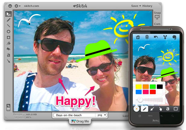 A look at Skitch in action.