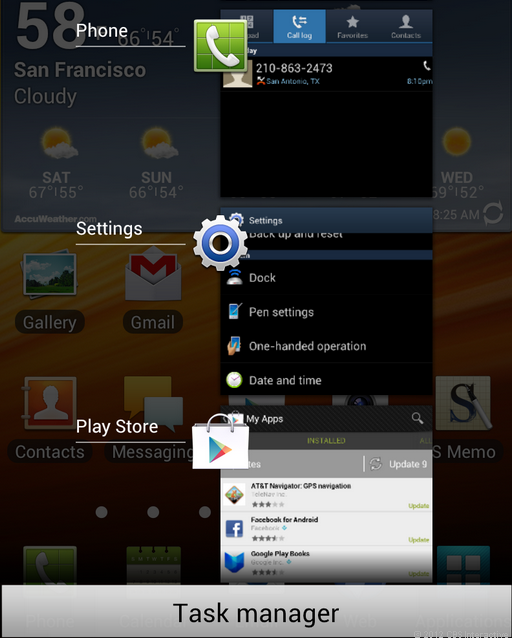 Samsung Galaxy Note with Android 4.0