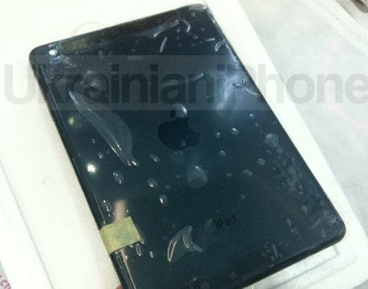 The purported finished back of an iPad Mini with cellular connectivity.