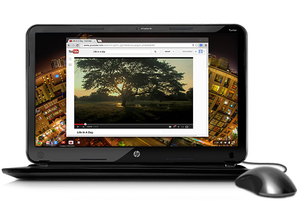 HP's $329 Chromebook.  Intel-based devices running on non-Windows operating system could be priced as low as $200.