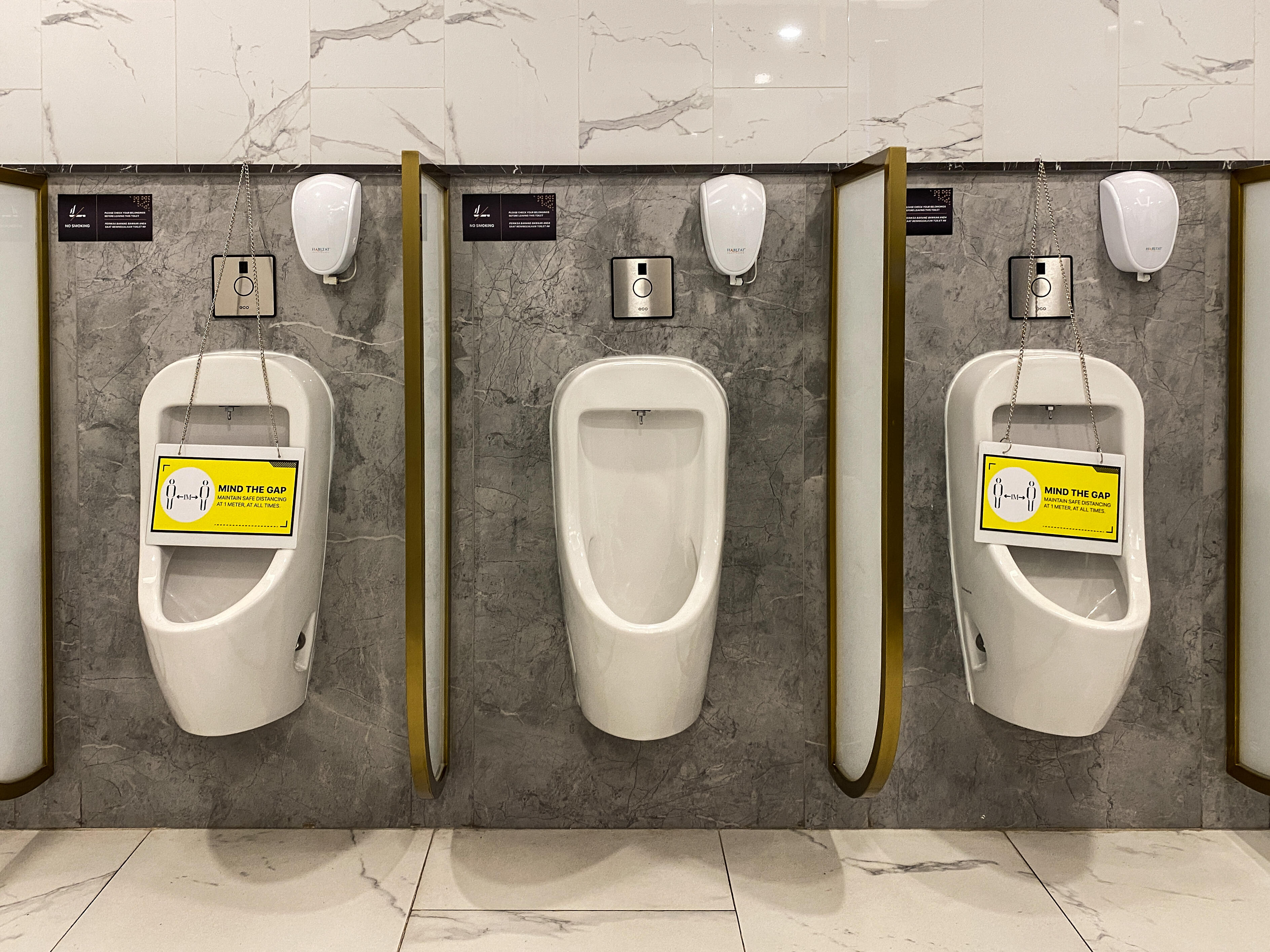 Indonesia: Not all mall urinals can be used