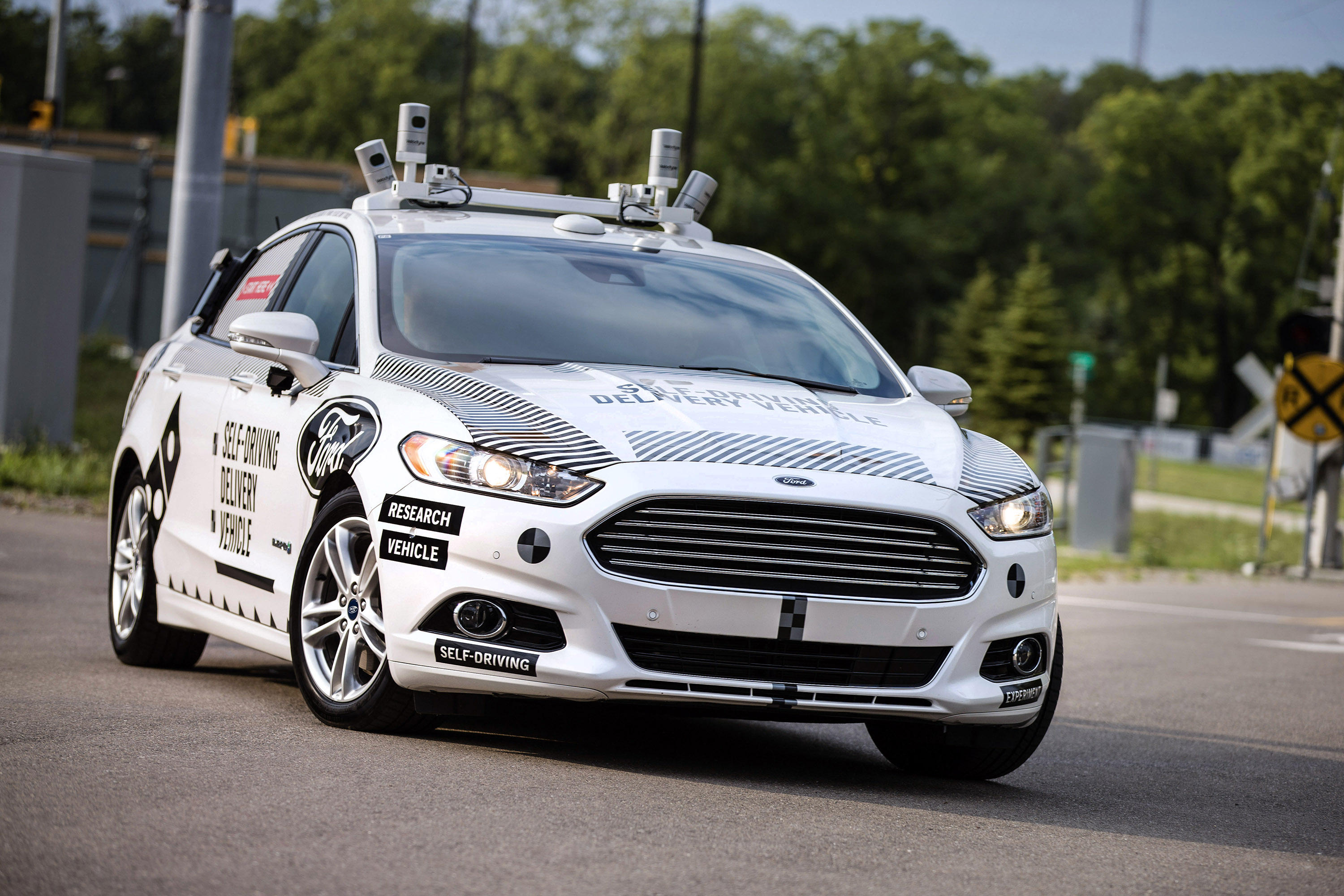 Ford Domino's Self-Driving Fusion