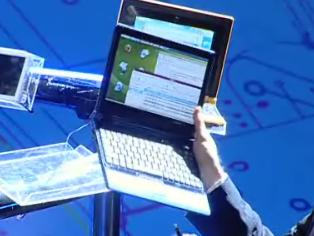 Ultrathin Intel Atom-based Netbook shown at IDF