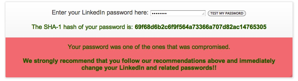 LastPass has created a site where people can check to see if their password for LinkedIn or eHarmony was among those posted to a hacker forum.