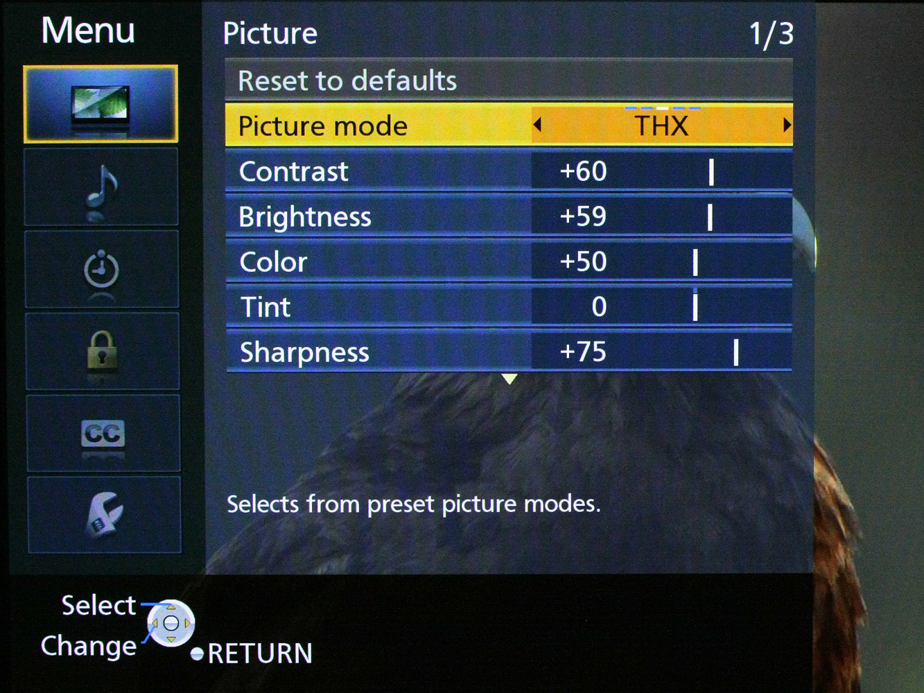 Picture modes