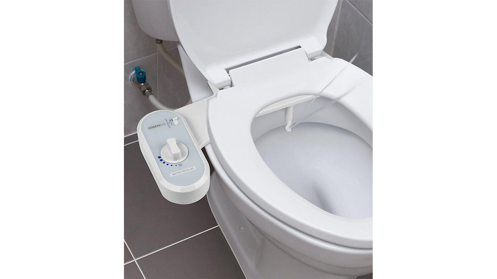 Bidet toilet seat attachment