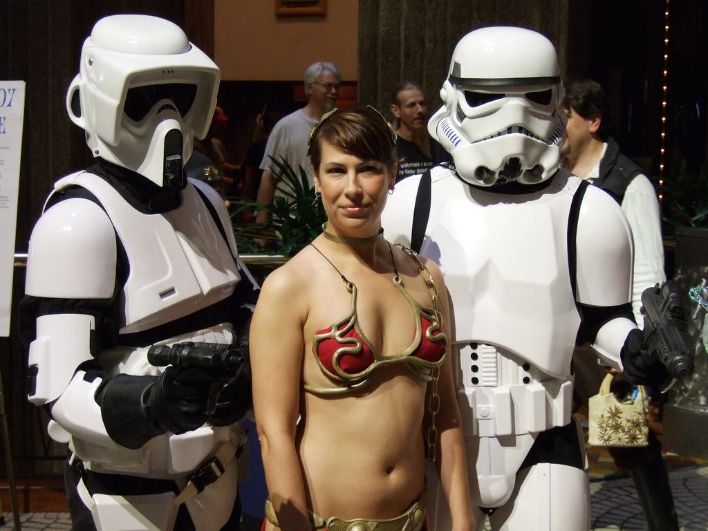 Stormtroopers and Princess Leia