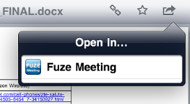Fuze Meeting HD integration with Dropbox