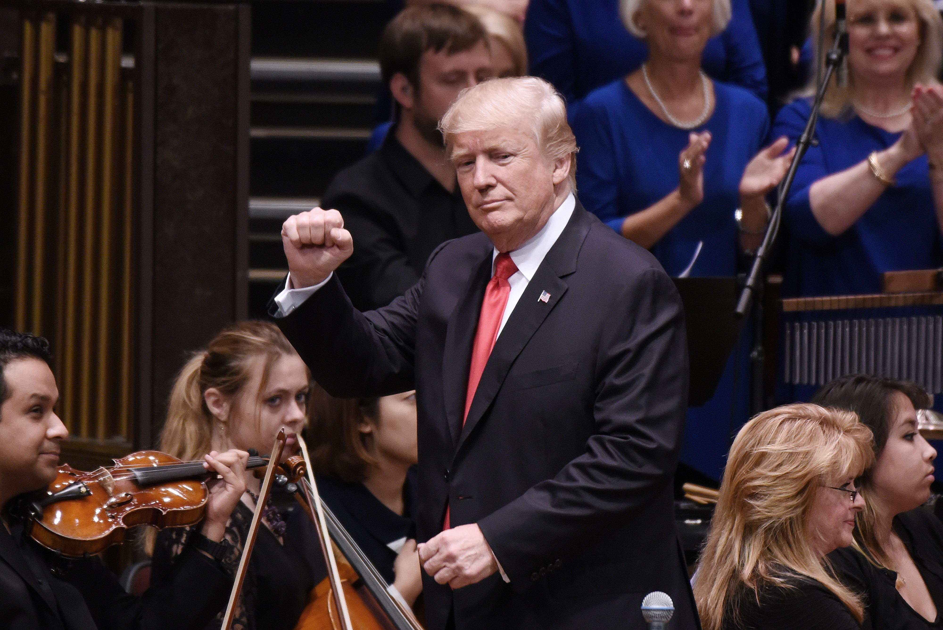 President Trump Participates In The Celebrate Freedom Rally At The Kennedy Center