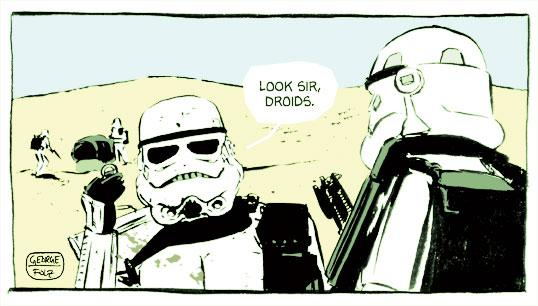 The droid search begins