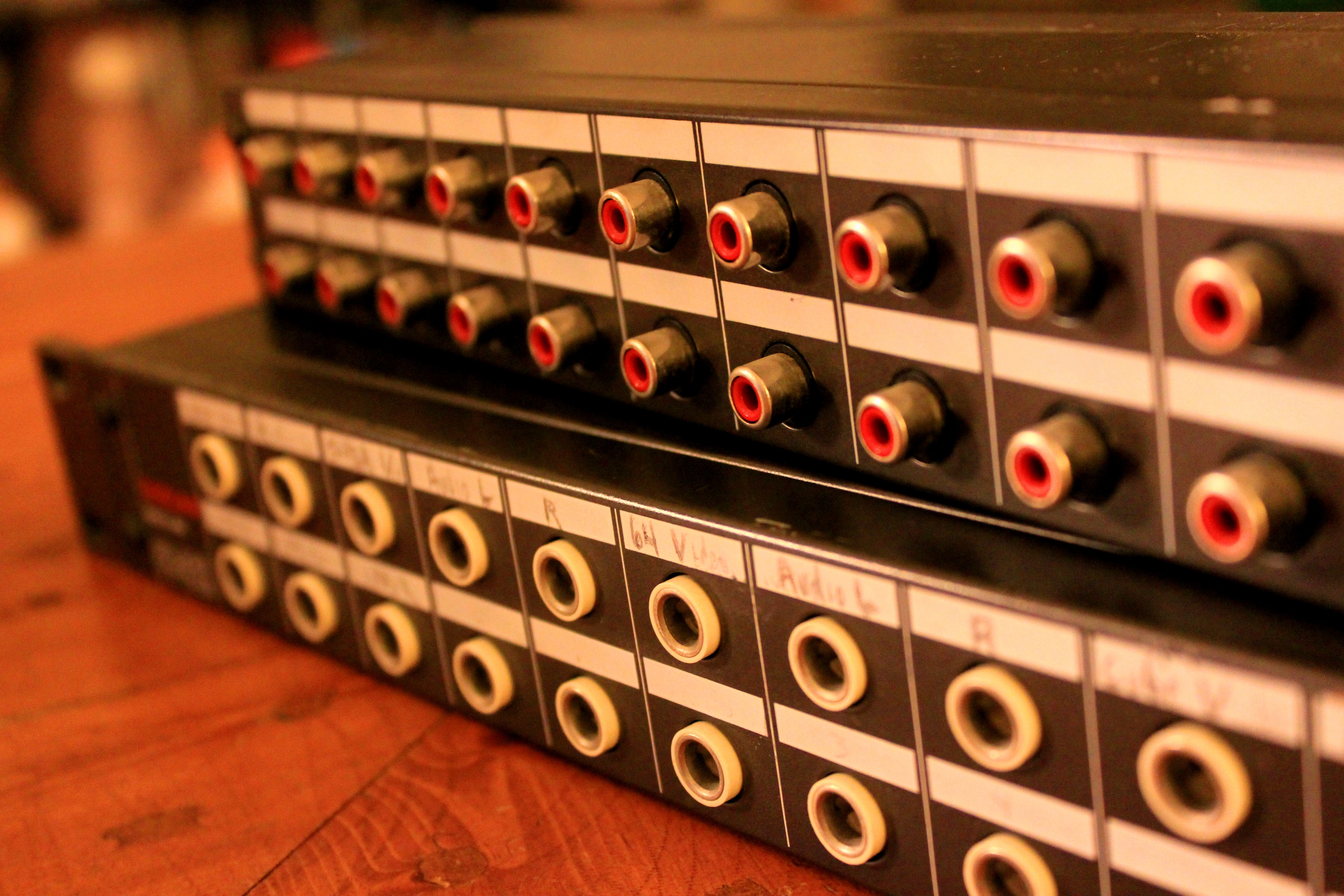 RCA and 1/4-inch patch bay