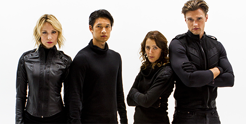"""Actors Beth Riesgraf (""""Leverage""""), Harry Shum Jr. (""""Glee""""), Abby Miller (""""Justified""""), and Hartley Sawyer (""""The Young and The Restless"""") star in """"Caper"""" on Geek and Sundry."""
