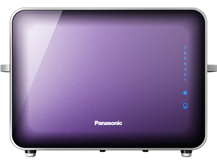 The Panasonic NT-ZP1V Stainless Steel and Glass Toaster is the third appliance available from the Panasonic Breakfast Collection.