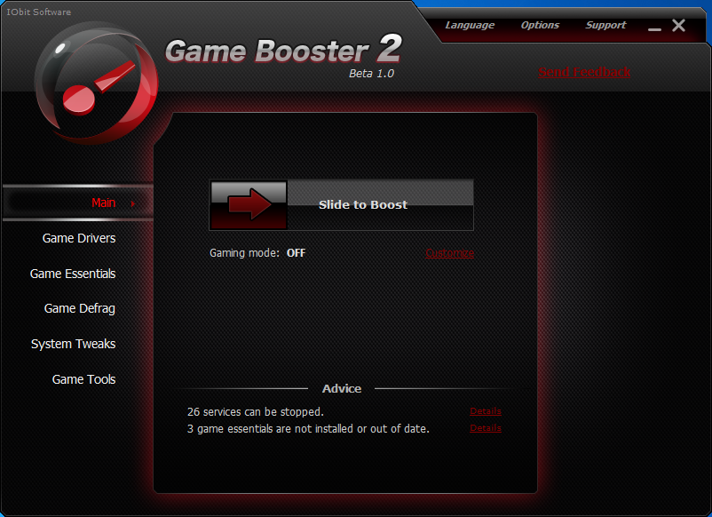 Game Boosters 2 offers much more than the previous version of the software.