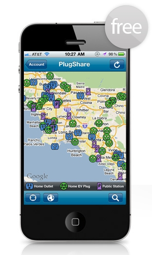 PlugShare allows users to find and share over 2,500 EV charging points, many of which are private residences.