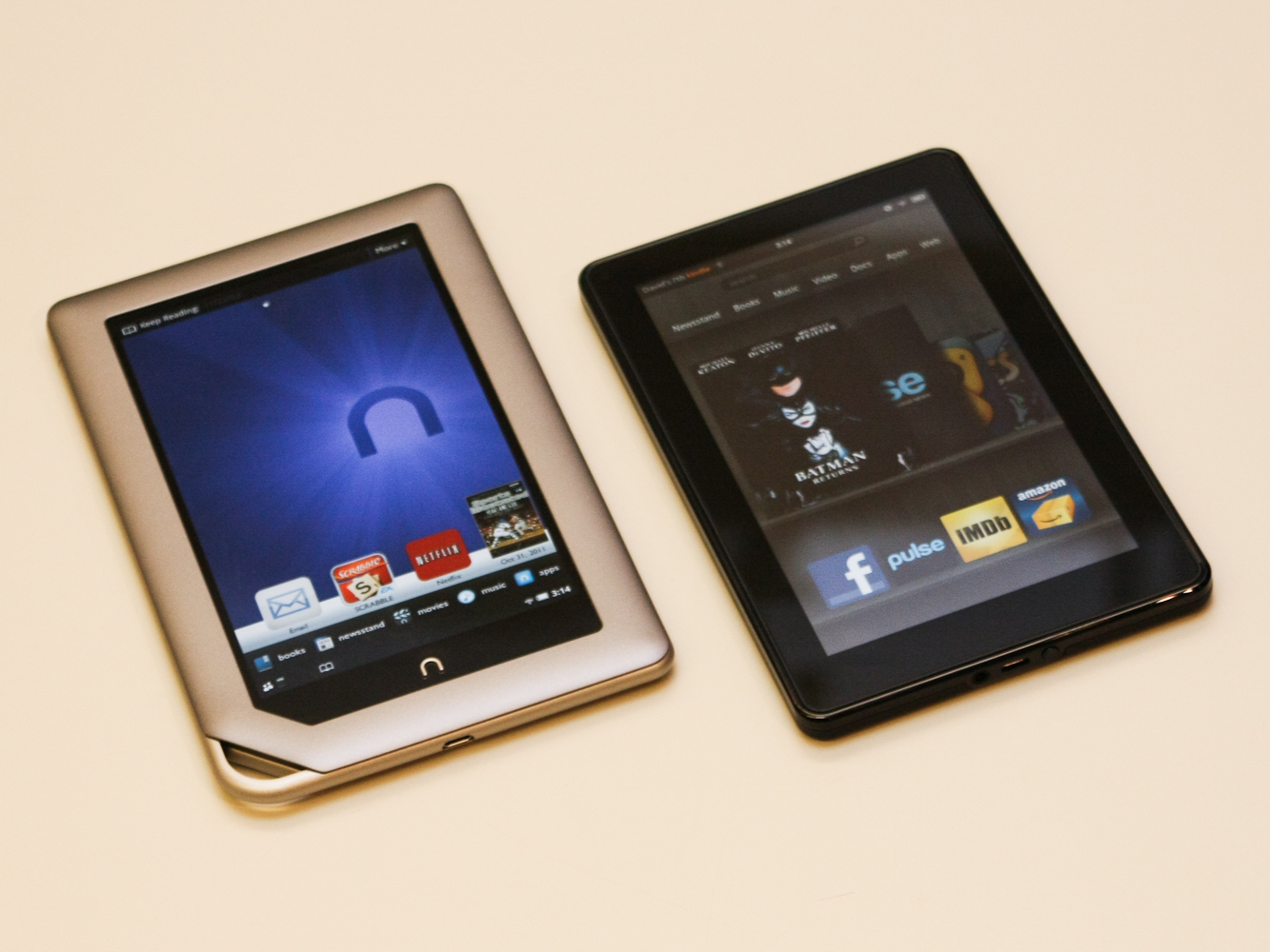 Amazon Kindle Fire and Nook Tablet