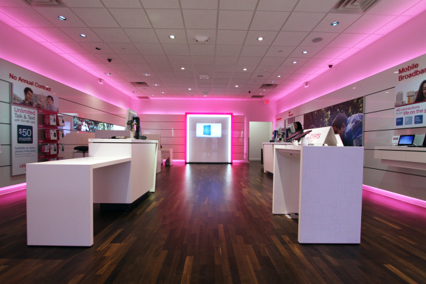 One of T-Mobile retail stores.