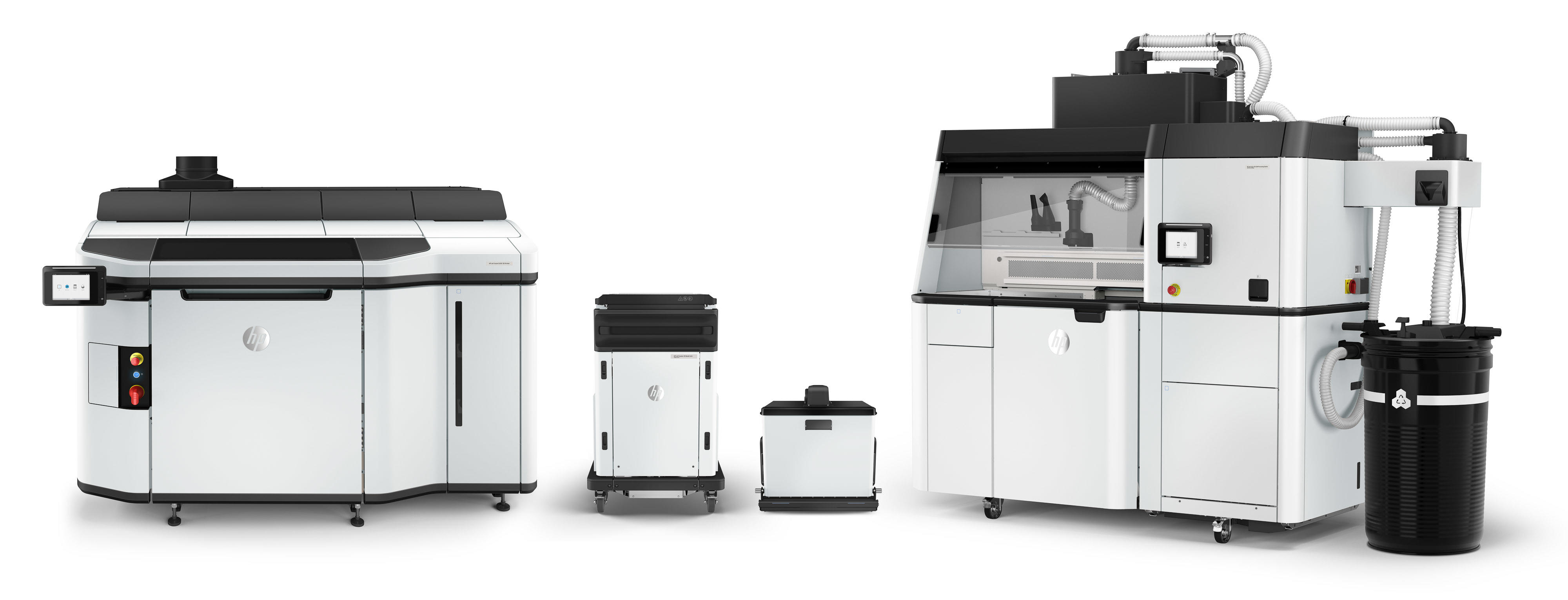 The HP Jet Fusion 5200 3D printing system won't fit on your desk.