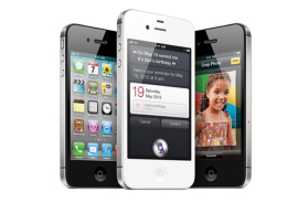 The iPhone 4S helped grow Apple's fourth-quarter market share.