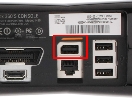 The Kinect-specific port in the latest version of the Xbox 360 hardware.