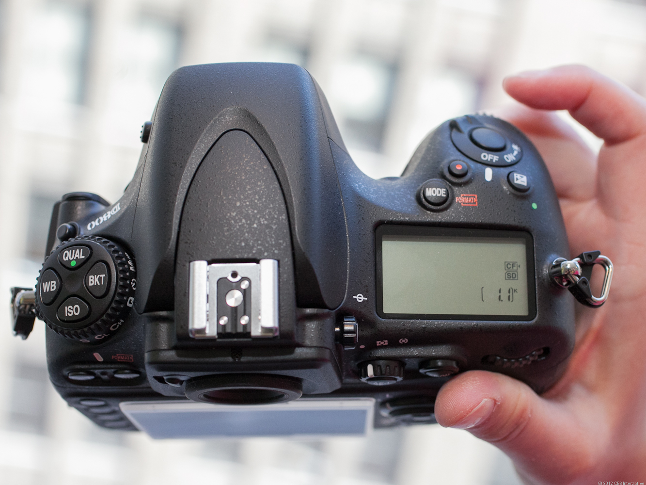 The top of the Nikon D800