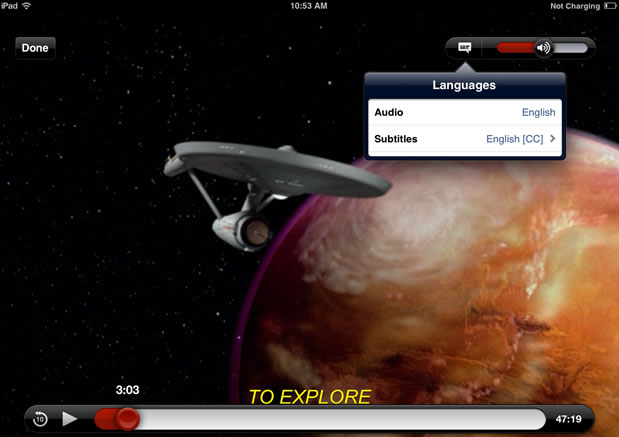 Netflix's new iOS app boldly goes where no app has gone before.