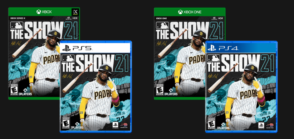 MLB The Show 21 PlayStation Xbox covers