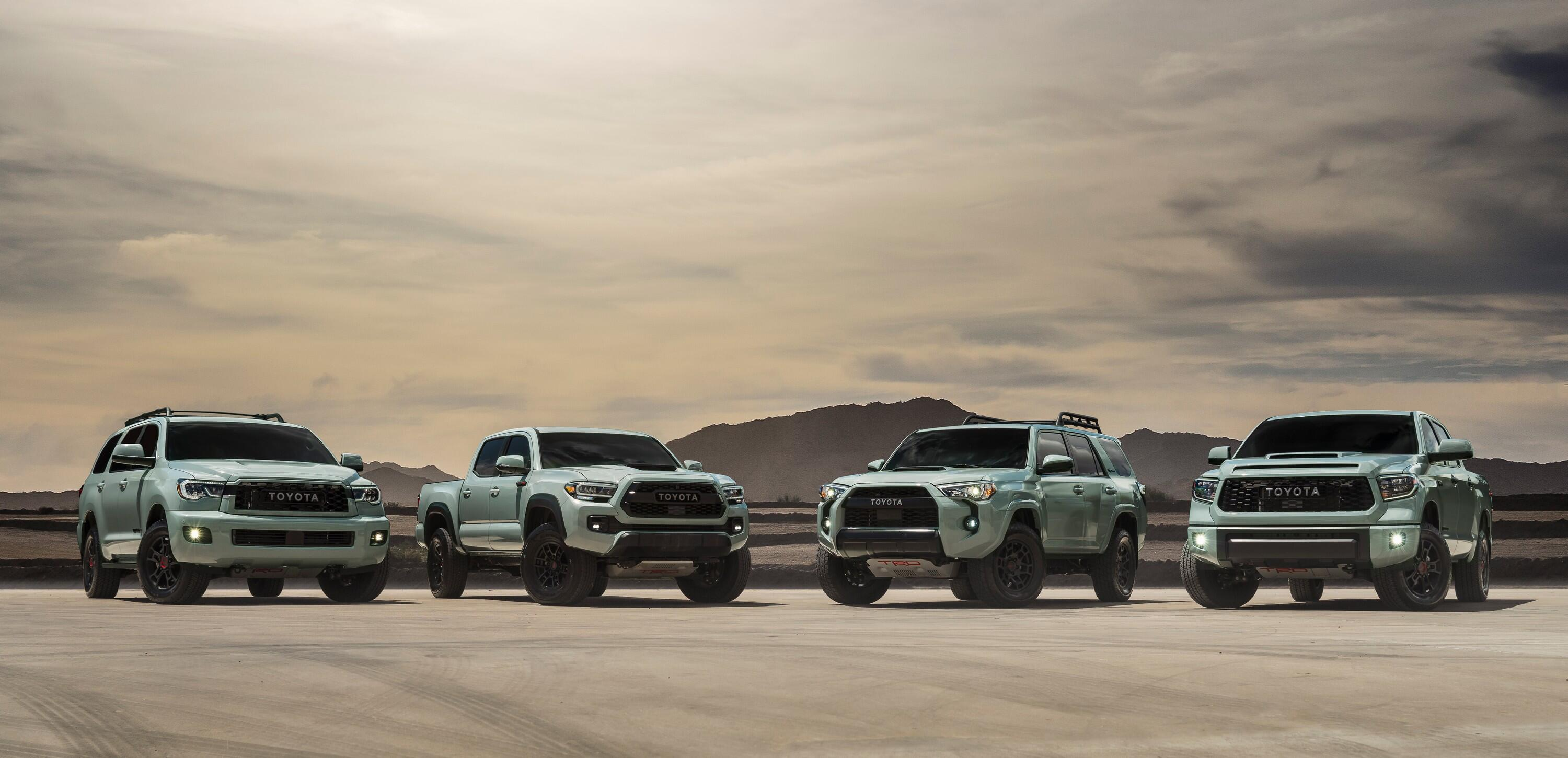 2021 Toyota TRD Pro lineup