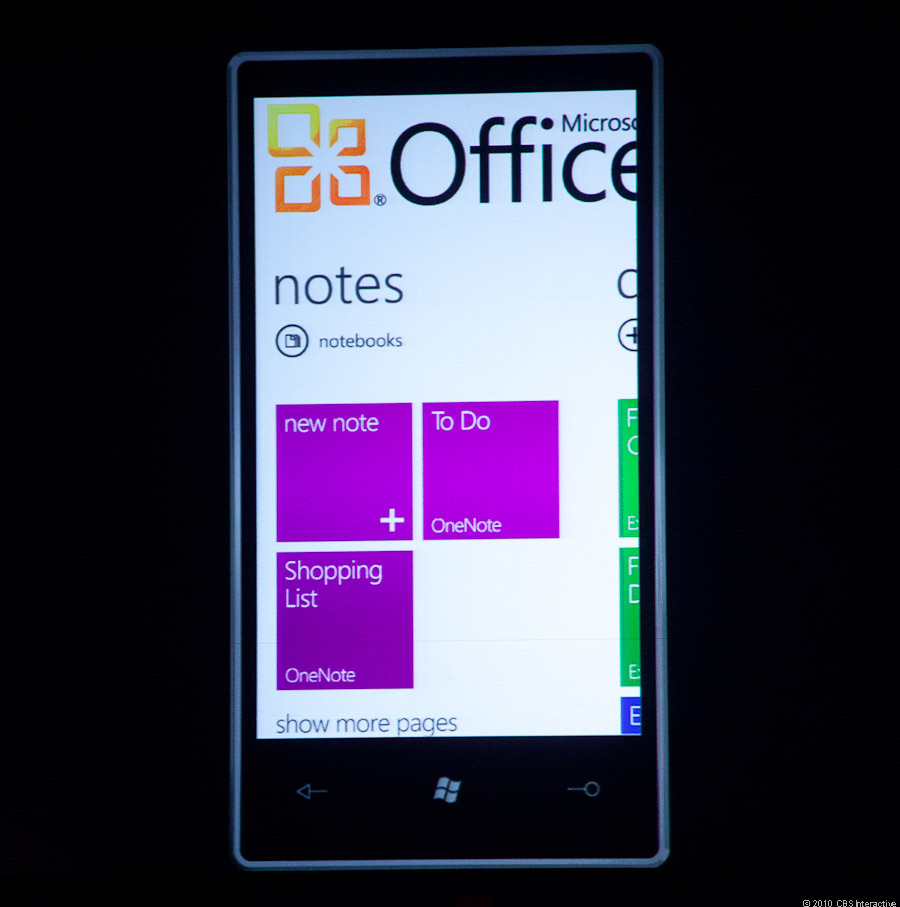 Microsoft OneNote integrated with future Windows Phone 7