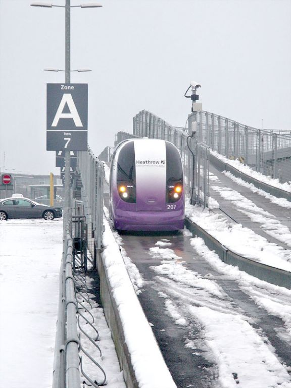 A pod operating in snow