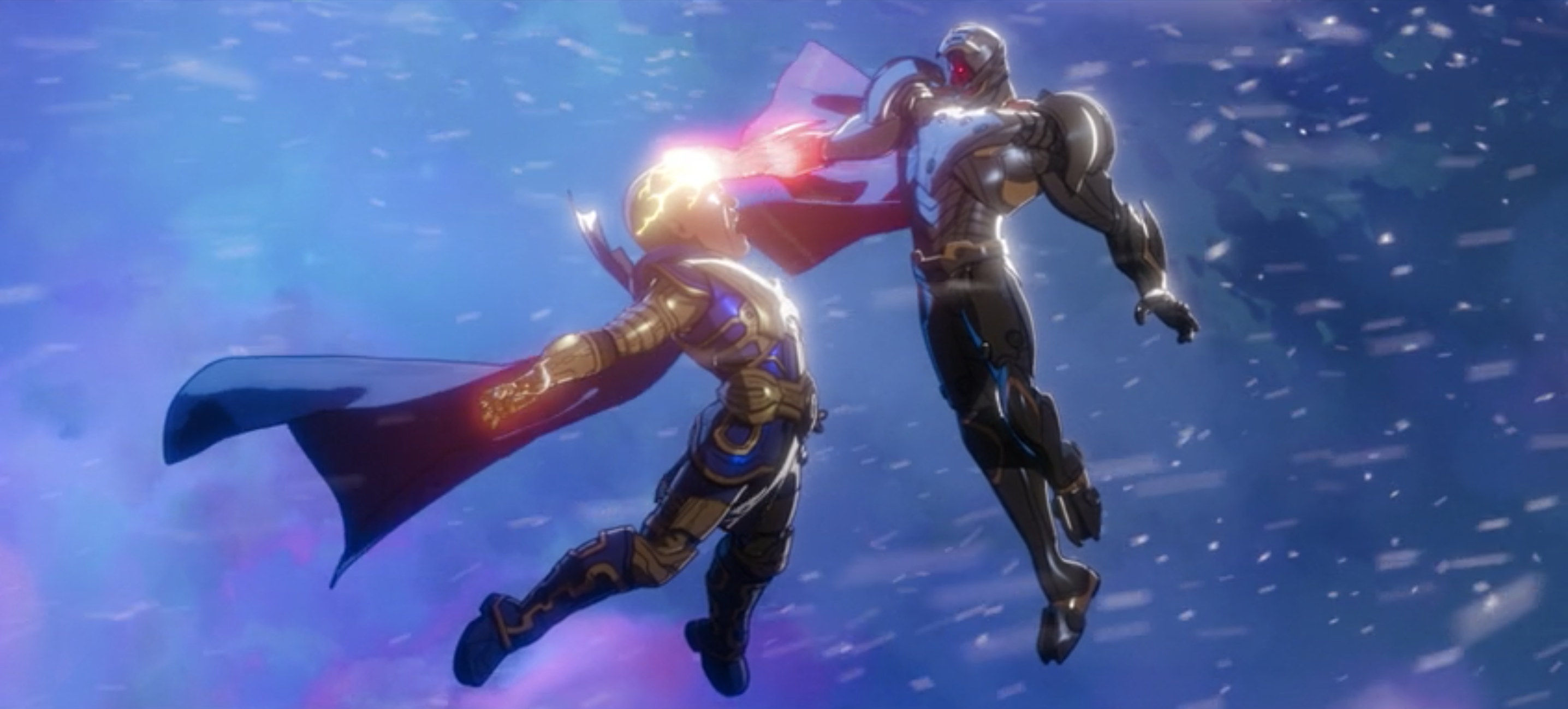 Watcher battles Ultron in Marvel's What If...?