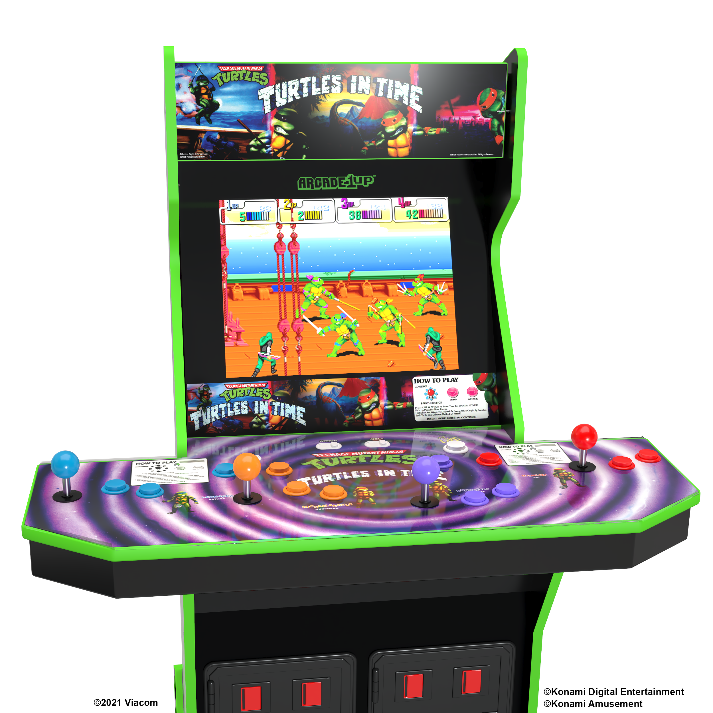 There's a lot of turtle action in this one machine.