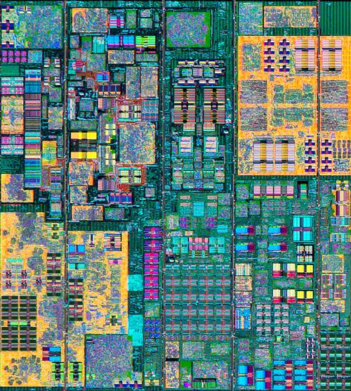 One of the 12 cores at the heart of IBM's Power8 processor, built with IBM's 22nm manufacturing technology.