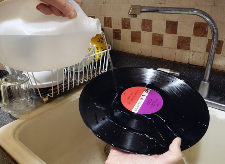 Clean your records with soap and water