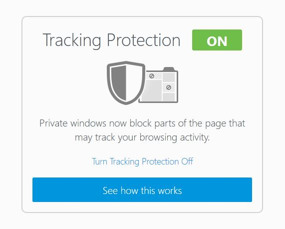 Firefox enables the tracking protection feature by default, but it only works in the private browsing mode.