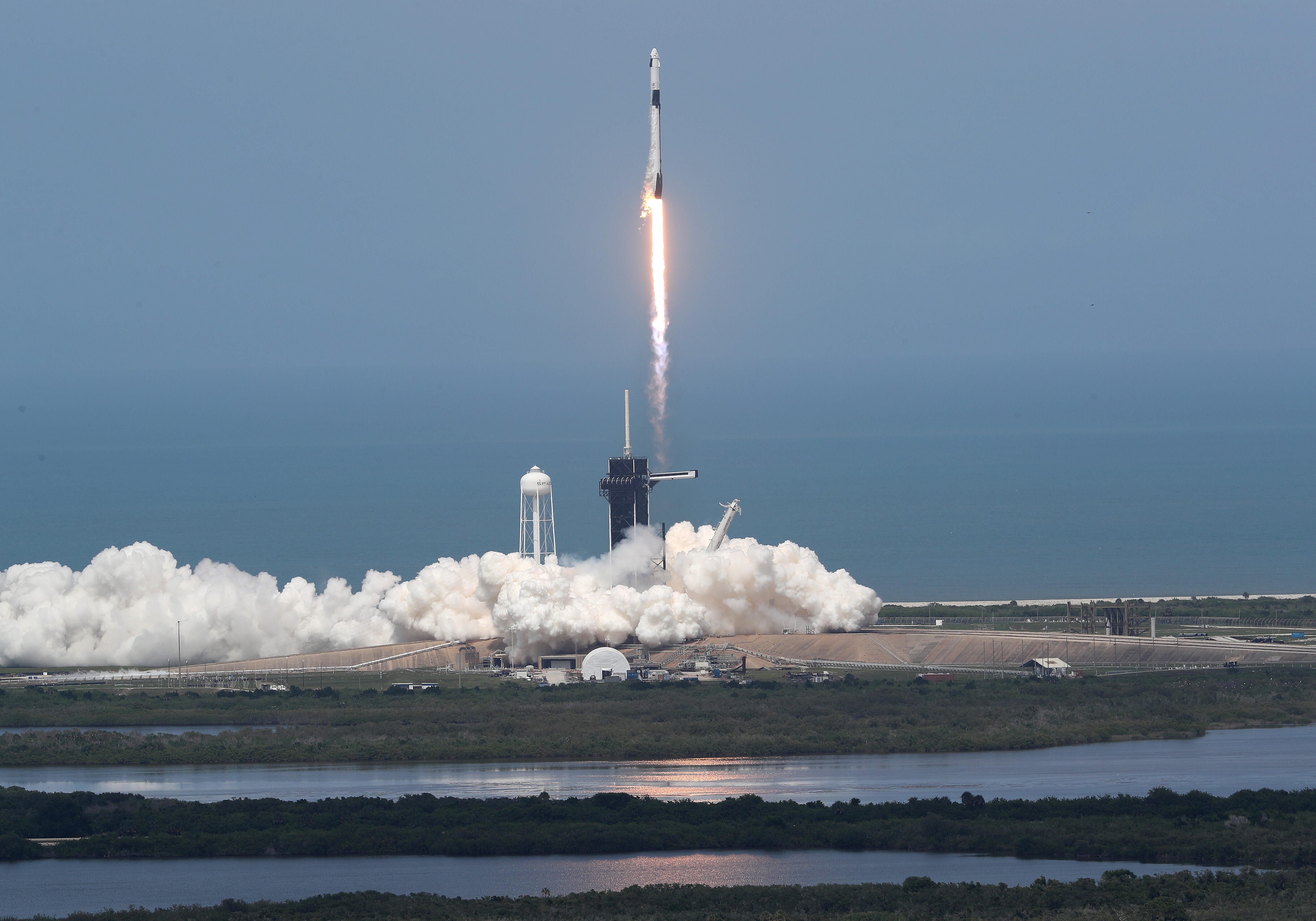 SpaceX Crew Dragon launches atop Falcon 9 rocket