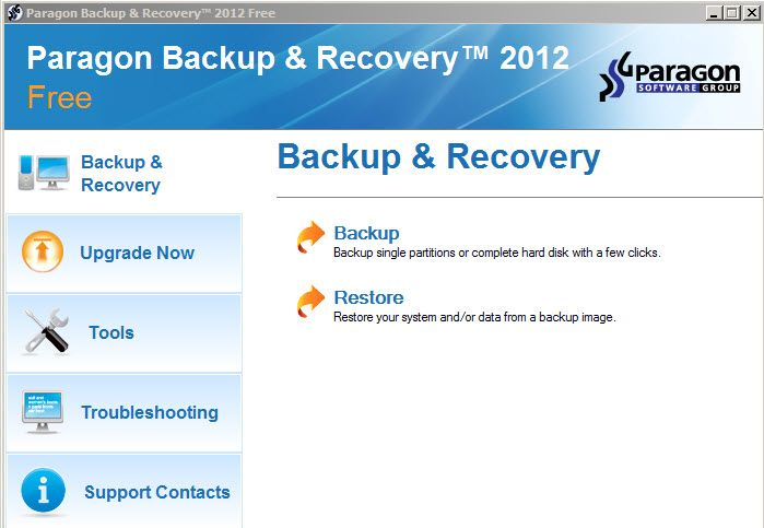 Paragon Backup & Recover 2012 Free offers all the features most home users will need.