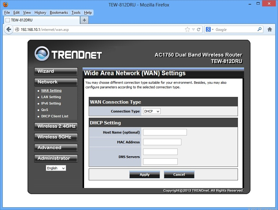 The TEW-812DRU's Web interface is very responsive, easy to use, and works with any browser.