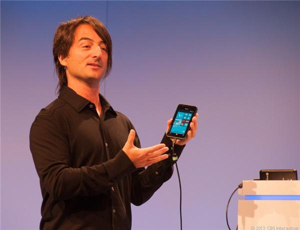 Microsoft's Joe Belfiore at the company's Windows Phone developer summit in 2012.