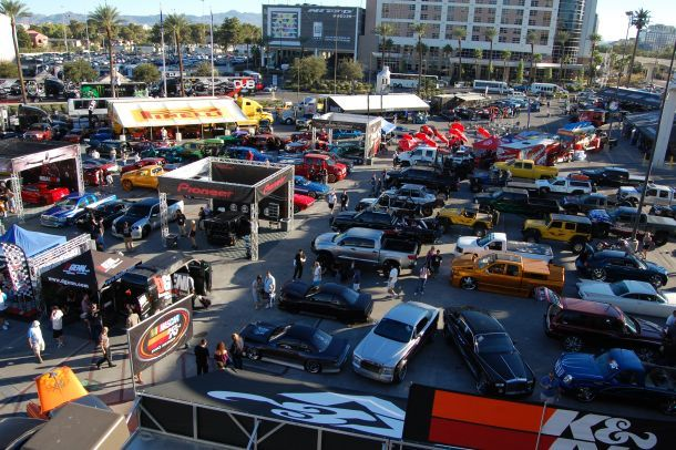 There were literally hundreds of cars on display on the first day of the 2010 SEMA Show.