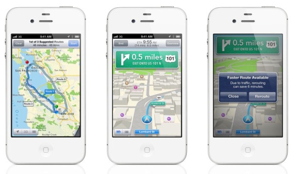 Apple's Maps feature in iOS 6.