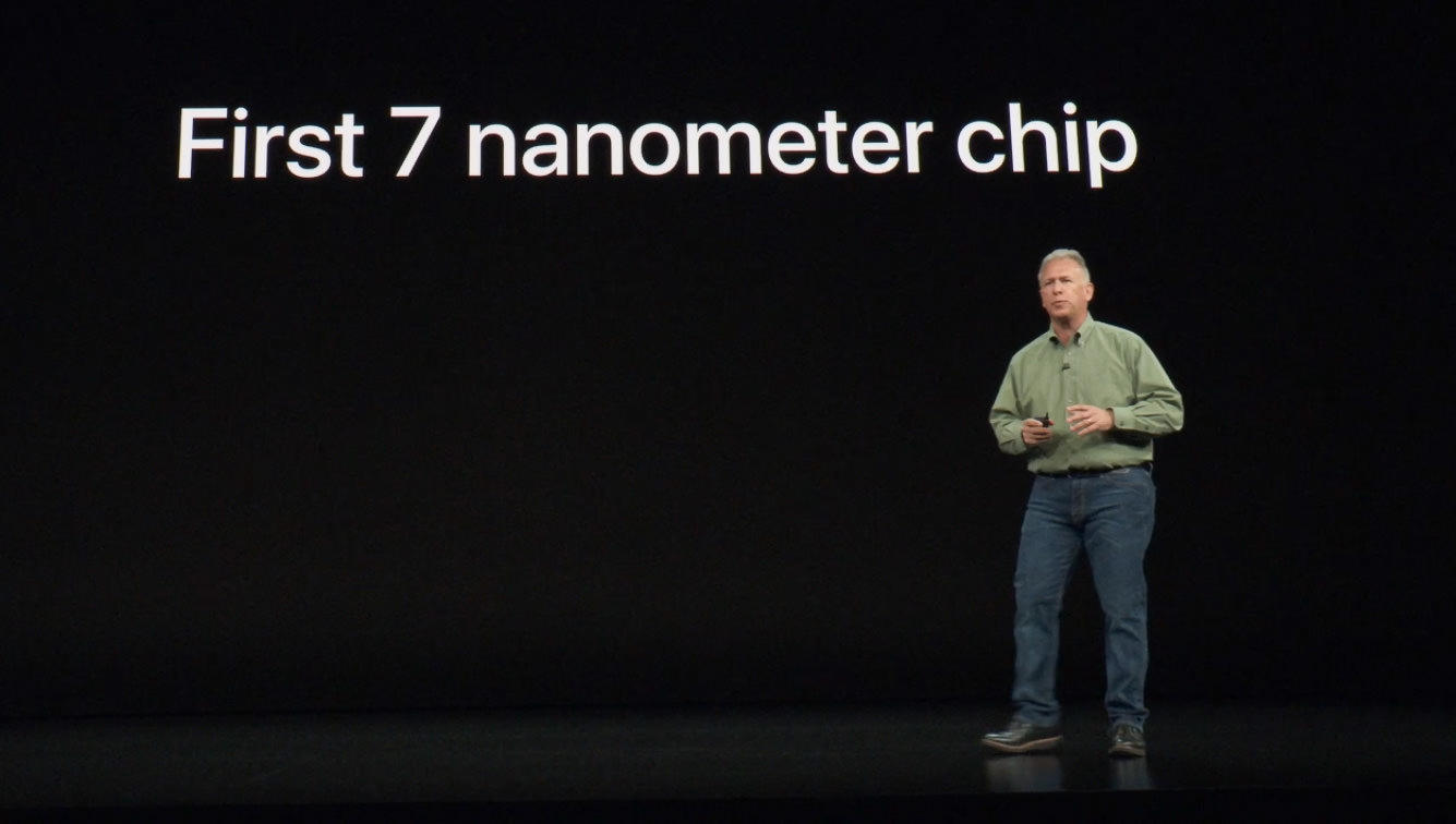 The iPhone XS and XS Max models ship in September, leading Apple marketing chief Phil Schiller to boast Apple will be first to use the next-generation 7-nanometer manufacturing process, but 7nm chip-based models from rivals like Huawei will arrive soon after.