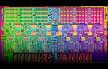 Intel 32-nanometer 6-core chip: marketed as both the Core i7 980 and Xeon 5600
