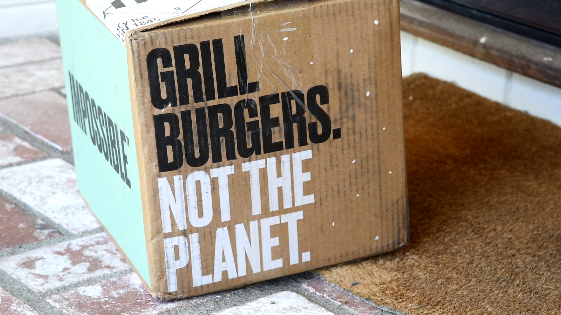 Impossible Burgers arrive on your doorstep