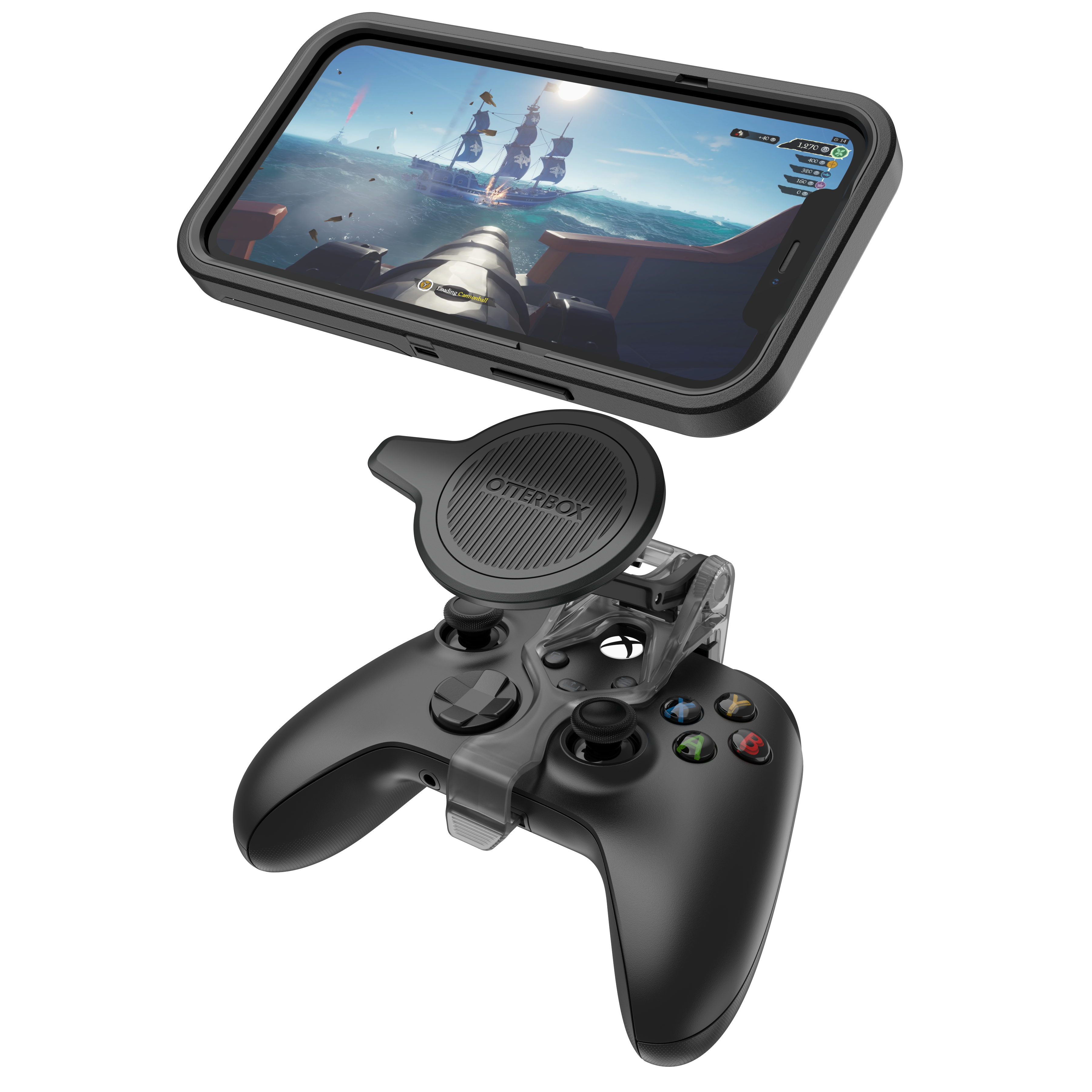 OtterBox mobile gaming clip connects Xbox controller and phone