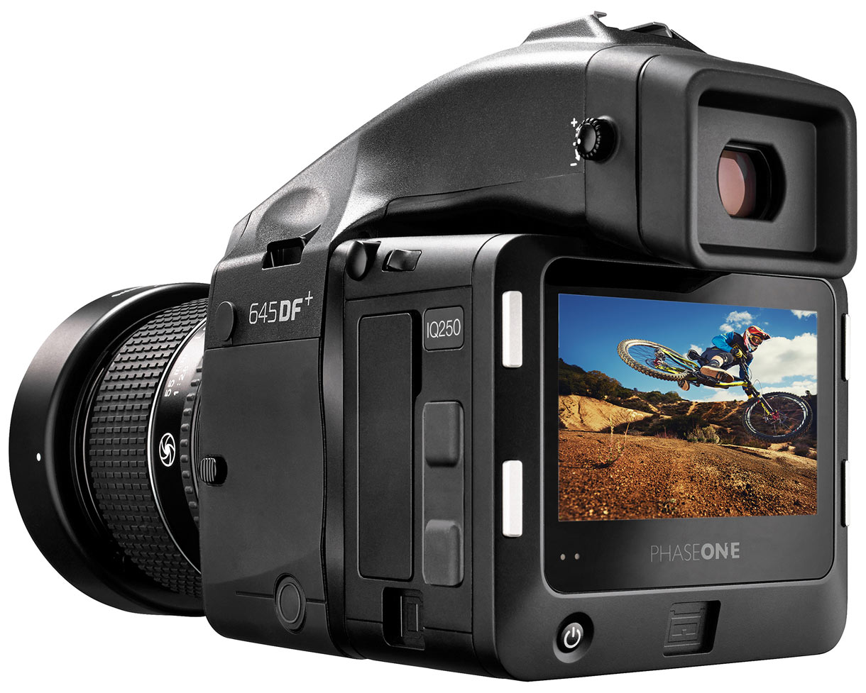 The Phase One IQ250 CMOS digital back mounted to a Phase One 645DF+ camera