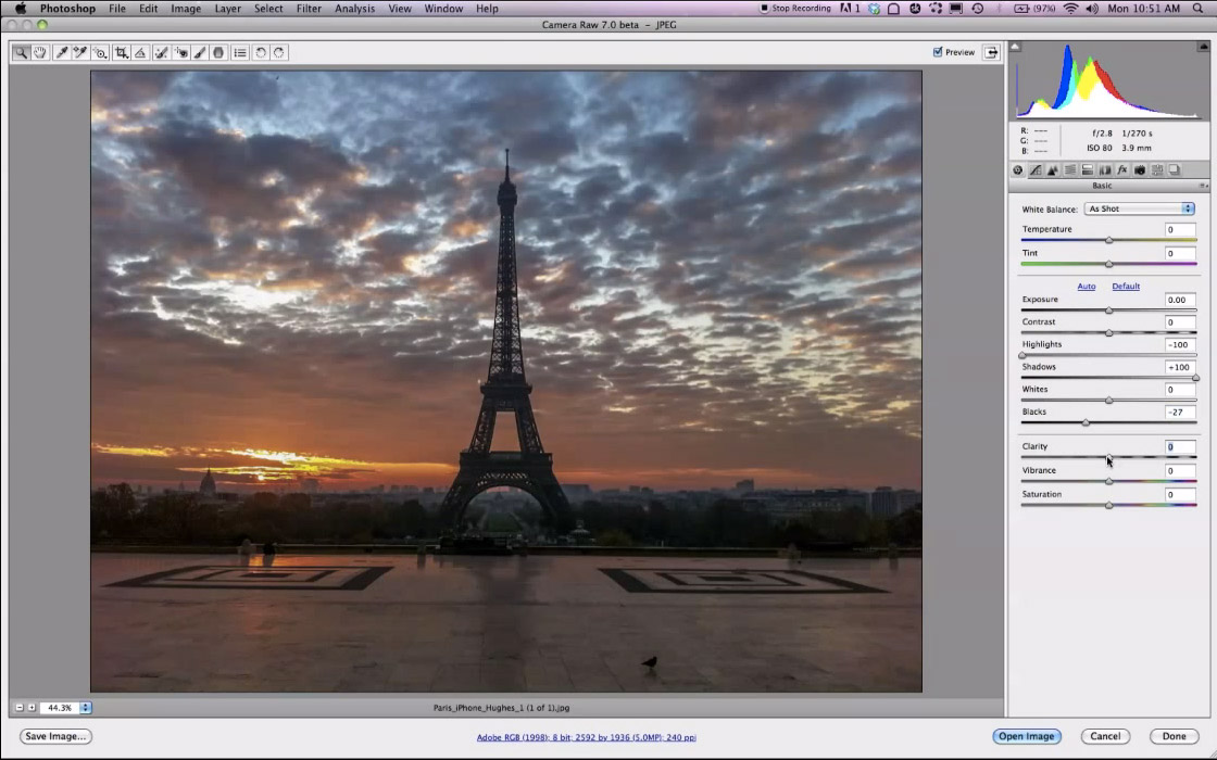 Adobe's Photoshop CS6 gets the raw-image editing controls visible already in Lightroom 4.